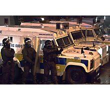 Riot police Photographic Print