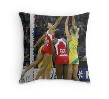 Netball. England v Australia 3 Throw Pillow