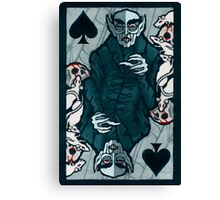 Orlock, Vampire King of Spades Canvas Print