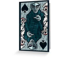 Orlock, Vampire King of Spades Greeting Card