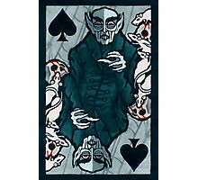 Orlock, Vampire King of Spades Photographic Print