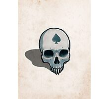 Vampire Skull, Ace of Spades Photographic Print