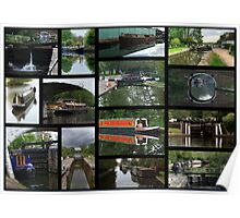 Grand Union canal Collage1 Poster