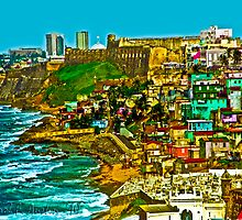 Walled City of Old San Juan Puerto Rico by Carol F. Austin