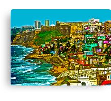 Walled City of Old San Juan Puerto Rico Canvas Print