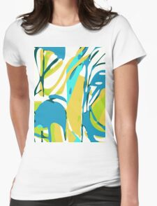 Abstract Splash Womens Fitted T-Shirt