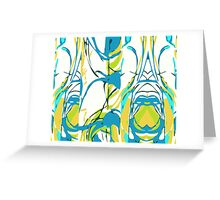 Abstract Splash Greeting Card