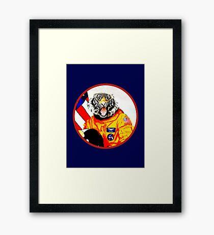 Astronaut Tiger Framed Print