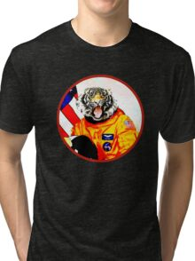 Astronaut Tiger Tri-blend T-Shirt