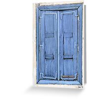Aged Window, Samos Island, Greece Greeting Card