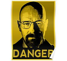 Danger White Poster