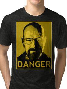 Danger White Tri-blend T-Shirt