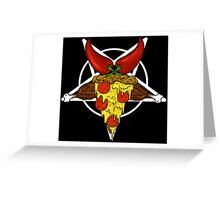 Pizzagram!! A junk food pentagram. Greeting Card