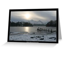 Winter's Afternoon, Derwentwater with border Greeting Card
