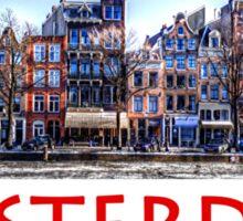 Amsterdam Street Scene Sticker