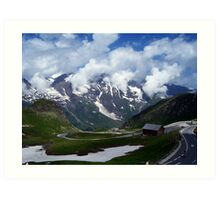High Alpine Road. Art Print
