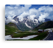 High Alpine Road. Canvas Print