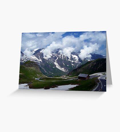 High Alpine Road. Greeting Card
