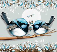 Blue Wrens by © Karin Taylor