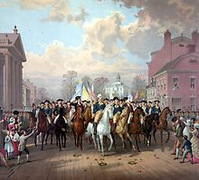 General Washington Enters New York by warishellstore