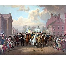 General Washington Enters New York Photographic Print