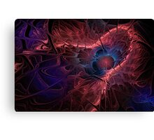 Red Fractal Abstract Canvas Print