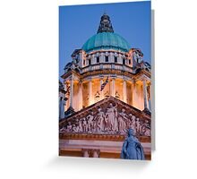 City hall evening - Belfast Greeting Card