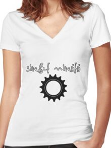 Single Minded Fixed Gear Tee Women's Fitted V-Neck T-Shirt