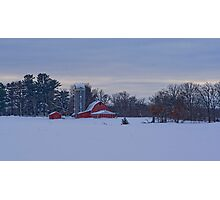 Snowed in at the Farm Photographic Print