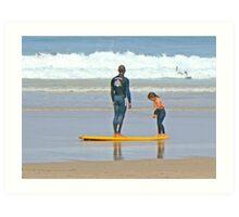 Surf Lesson Art Print