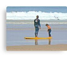 Surf Lesson Canvas Print