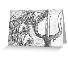 Fish and Trident Greeting Card