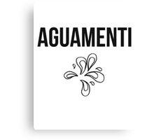 aguamenti - harry potter spell [monochrome] Canvas Print