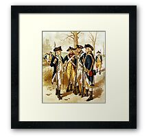 Infantry Of The Revolutionary War Framed Print