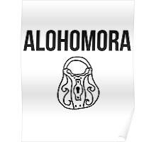 alohomora - harry potter spell [monochrome] Poster