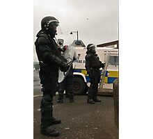 Riot police in Belfast Photographic Print