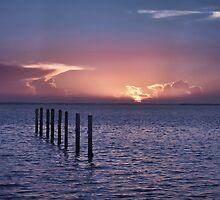 Sunrise over the bay by Sally Kady