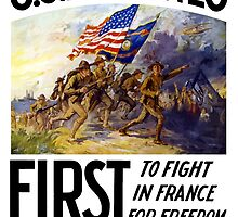 US Marines -- First To Fight In France For Freedom by warishellstore