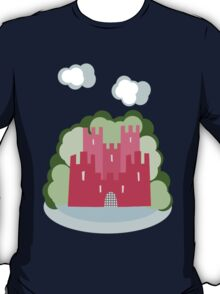 Castle with clouds and trees T-Shirt