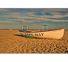 Lifeboat at sunset Photographic Print