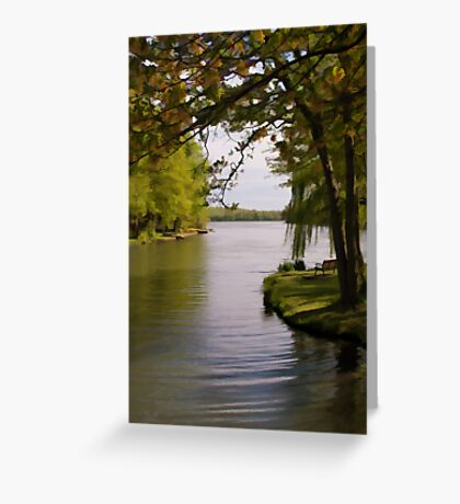 Serenity by the lake  Greeting Card