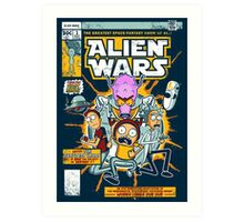 Alien Wars Art Print