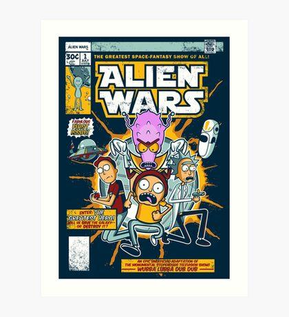 Alien Wars Art Print