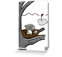 Golf Ball. Greeting Card