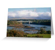 Menai Suspension Bridge, North Wales, UK Greeting Card