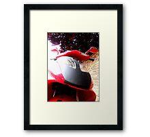 Vivacious Red Framed Print