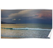 Apollo Bay - clouds across the ocean Poster