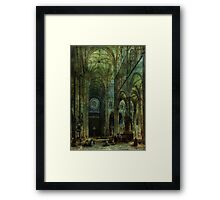 Emerald Arches Framed Print
