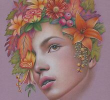 Goddess of Autumn by Karen  Hull