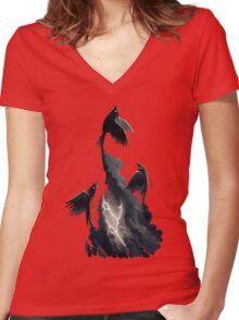 Stormbringers Women's Fitted V-Neck T-Shirt